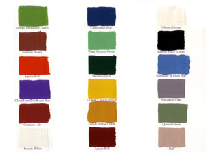 Golden Spike Railraod Color Chart